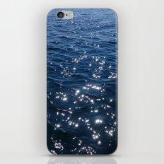 Sparkly Deep Blue Sea Waves iPhone & iPod Skin