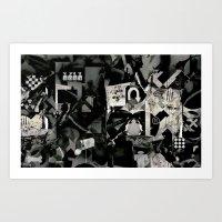 Abstract B+w Art Print