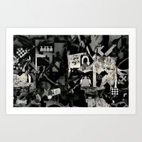 Abstract B+w Art Print
