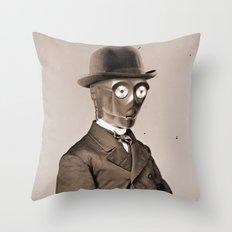 Portrait of Sir C-3PO Throw Pillow