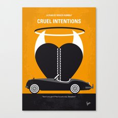 No635 My Cruel Intentions minimal movie poster Canvas Print