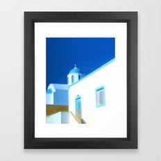 Santorini House Framed Art Print