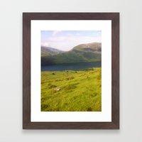 Wales watercolour Framed Art Print
