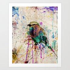 Drippy bird Art Print