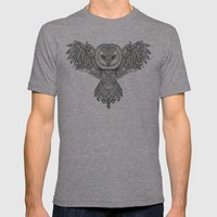 Barn Owl Mens Fitted Tee Tri-Grey SMALL