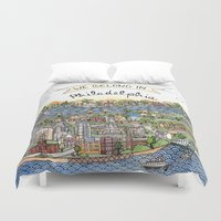 We Belong in Philadelphia! Duvet Cover