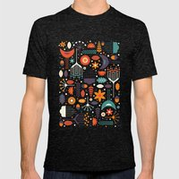 Flora & Fauna Mens Fitted Tee Tri-Black SMALL