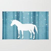 Winter Falls Unicorn Rug