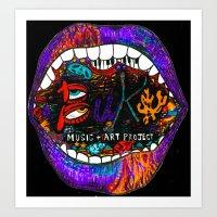 Buku Music & Art Project Art Print