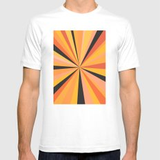 Zone Orange Mens Fitted Tee White SMALL