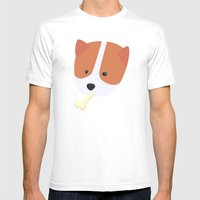 Corgi To Benny Mens Fitted Tee White SMALL