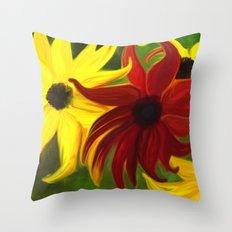 Sunflower Tango Throw Pillow