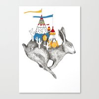 Rabbit On A Holiday Canvas Print