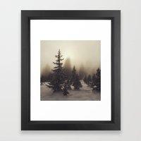 Sunlight, Frost And Stea… Framed Art Print