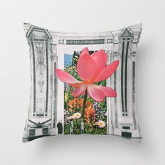 The Magical Lotus Flower Throw Pillow