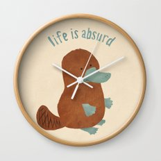 Platypi Don't Lie Wall Clock