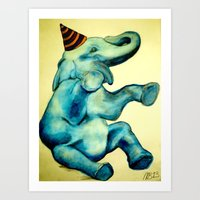 Party Elephant No. 3 Art Print