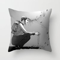 B&W No.9 Throw Pillow