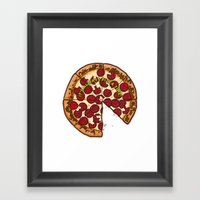 Pizza Time! Framed Art Print