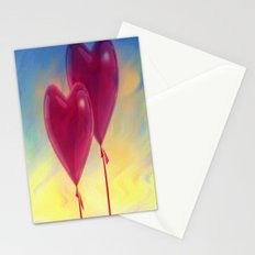 Love heart Balloons Stationery Cards