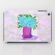Magenta Vase with Aqua Flowers iPad Case