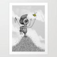 'The Bug Collector' (Col… Art Print