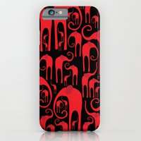 iPhone & iPod Case featuring Elephant Herd by UvinArt
