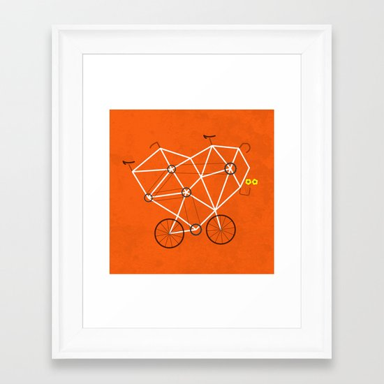Lovecycle Framed Art Print