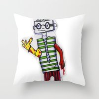 Nerdcore Tomato Eater Throw Pillow