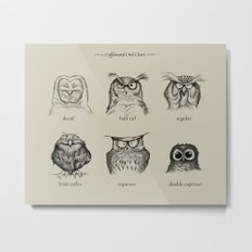 Caffeinated Owls Metal Print