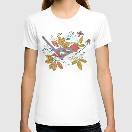 Bird and Butterfly  T-shirt