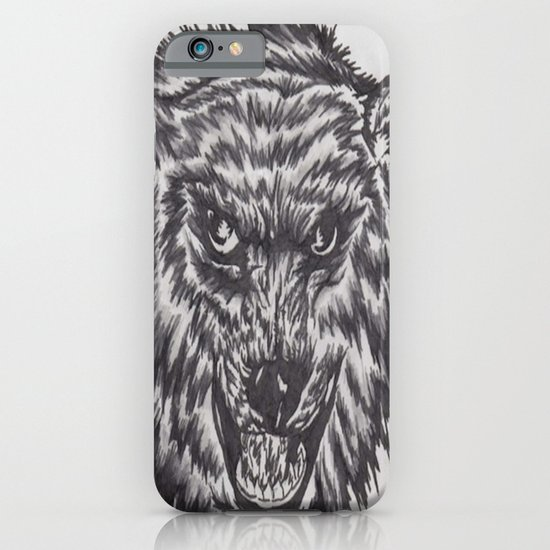Angry wolf iPhone & iPod Case