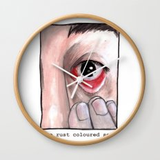 The Rust Coloured Soil: Subjects Wall Clock