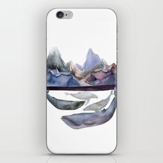 mountain and whales iPhone & iPod Skin