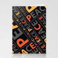 Peace....no more wars Stationery Cards