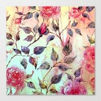 Roses And Splash 2 Canvas Print