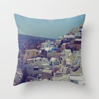 Oia, Santorini, Greece II Throw Pillow