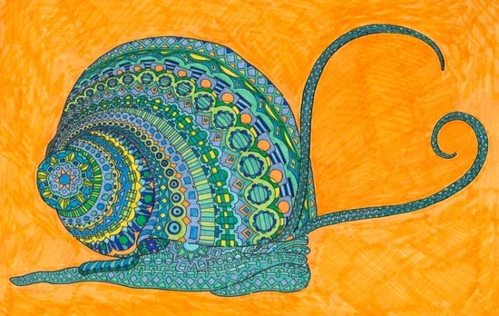 Swirly Snail Art Print