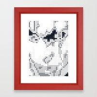 Geometric Face Framed Art Print