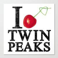 I Love Twin Peaks (Cherr… Canvas Print