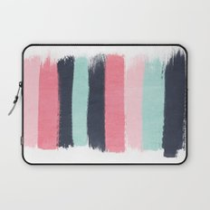 Cecily - abstract paint brush strokes paintbrush brushstrokes boho chic trendy modern minimal  Laptop Sleeve
