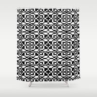 Black and White Tile 6/9/2013 Shower Curtain