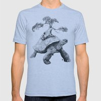 Tortoise Tree - Growth Mens Fitted Tee Athletic Blue SMALL