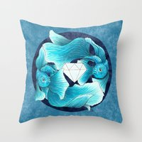 underwater guardians - fishes Throw Pillow
