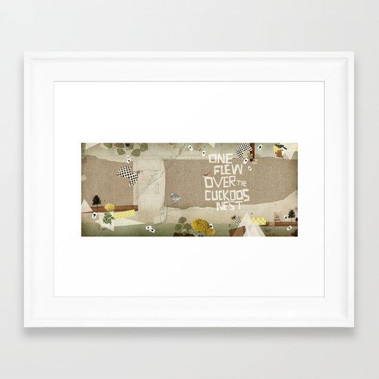 one flew over the cuckoos nest Framed Art Print