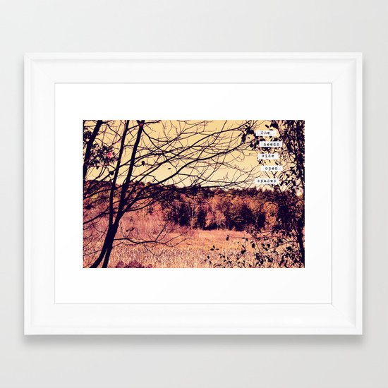 Wide Open Spaces II Framed Art Print