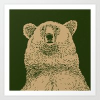 Kodiak Bear Art Print