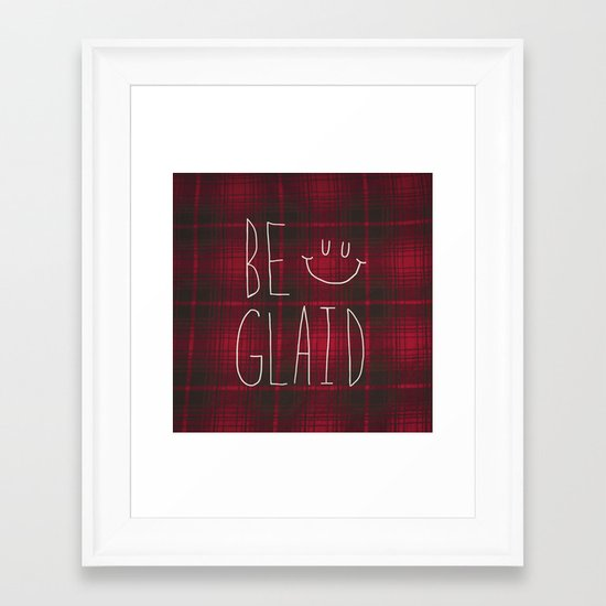So Plaid Framed Art Print