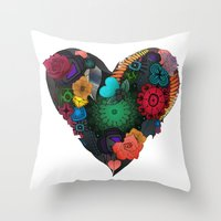 Gobblynne Heart Throw Pillow