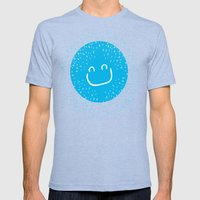 Big smile like sunshine Mens Fitted Tee Tri-Blue SMALL